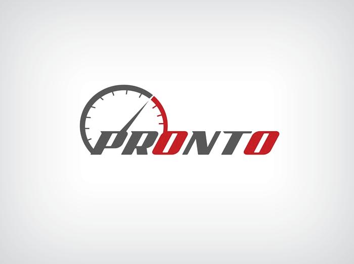 pronto automotive logo design