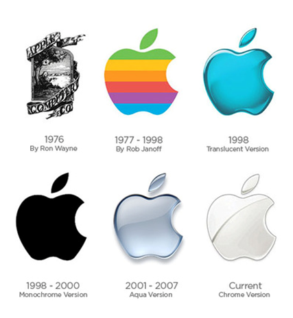 apple logo designs