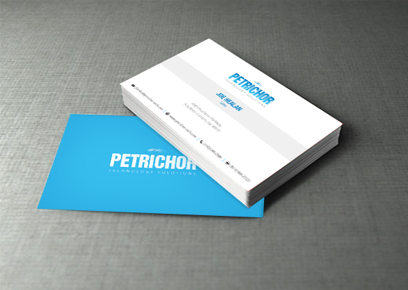petrichor stationery design