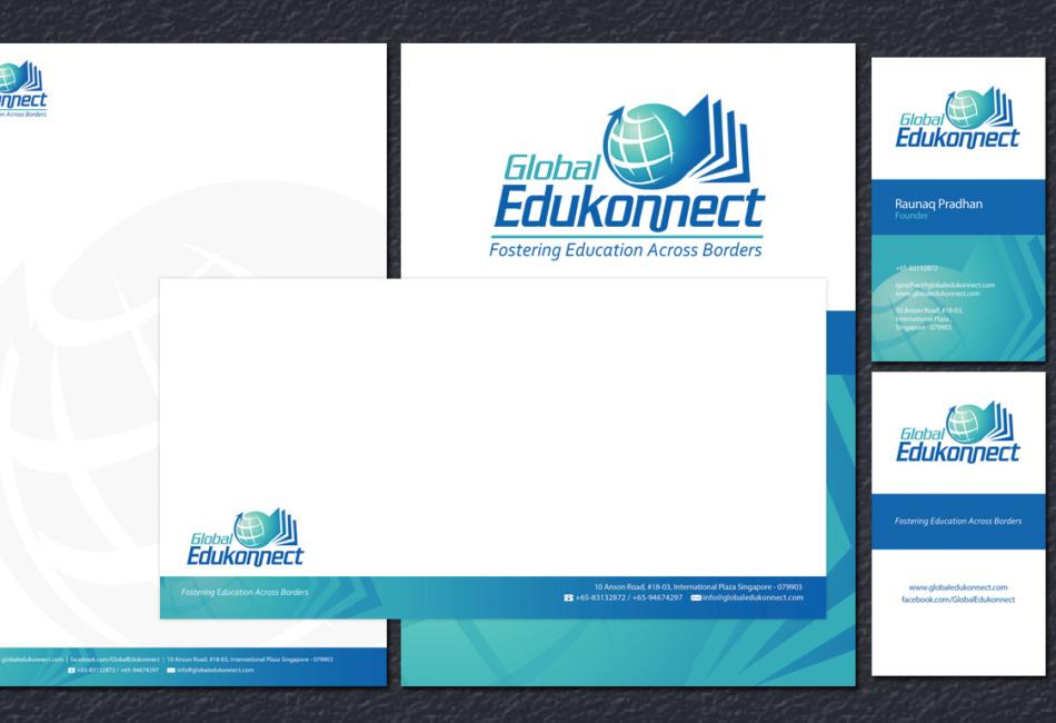 global edukonnect stationery design