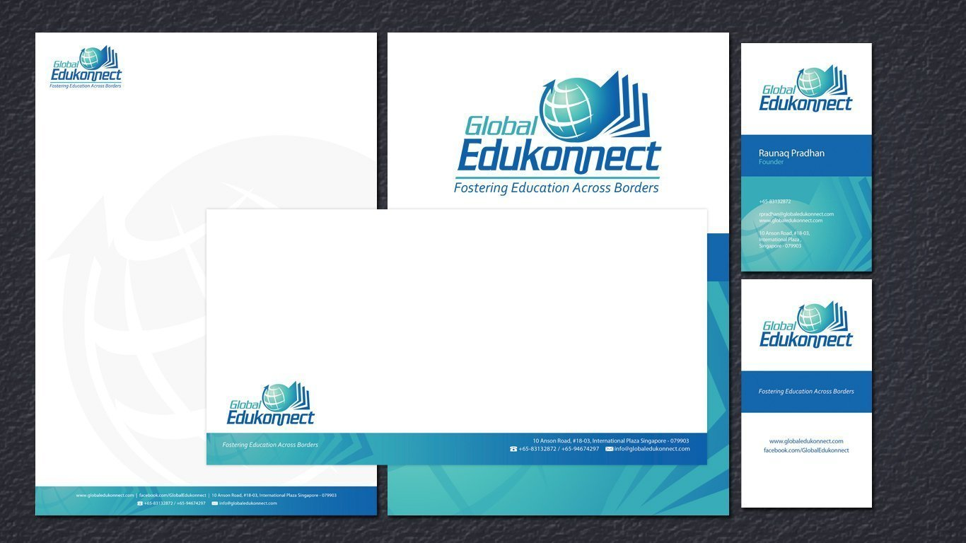 global edukonnect stationery design