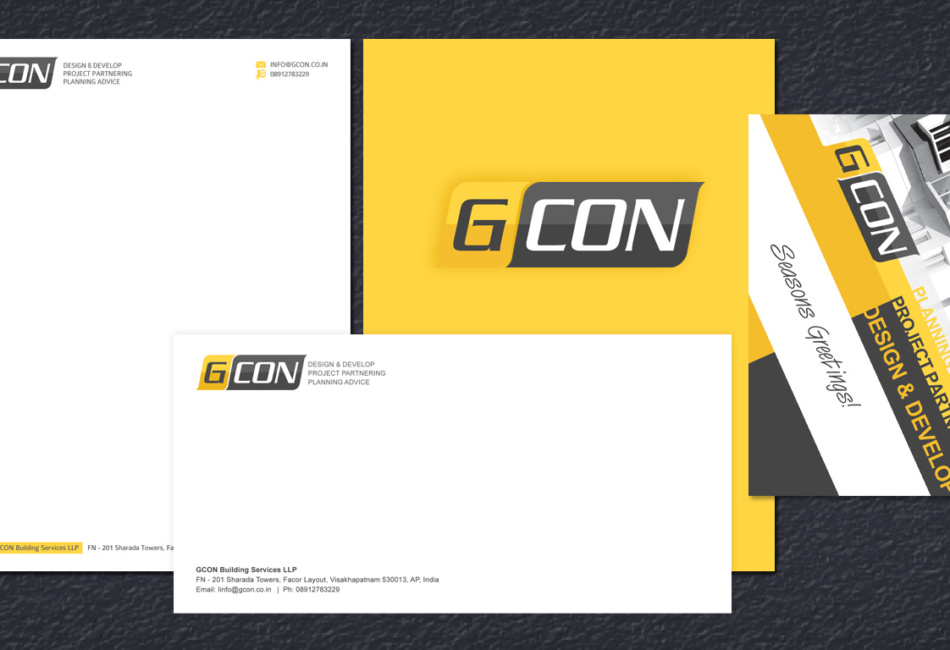 gcon stationery design