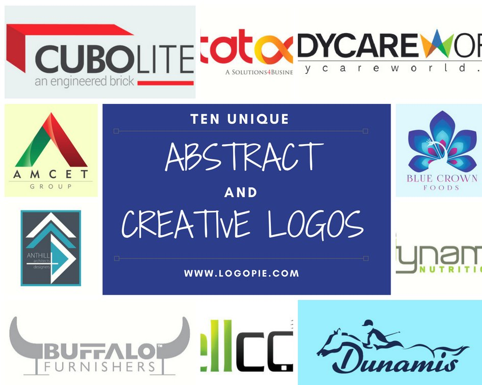 10 Abstract logos reflecting creativity and uniqueness