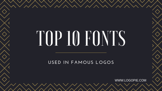Top 10 Fonts used in famous logos