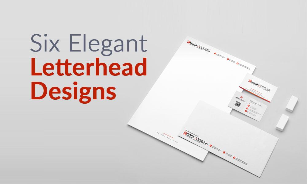 Six Elegant Letterhead designs For Business
